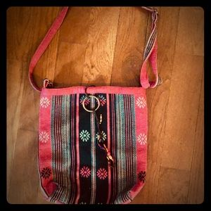 New w/o tags American Eagle red & black Boho bag